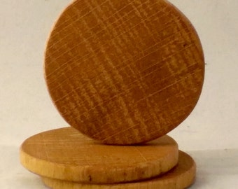 Round, Beech, 1.5in Display Base