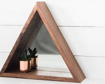 Mirror Triangle Shelf