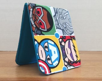 OhSoRetro Mens Wallet / Super Thin Billfold Wallet / Marvel Superhero / Vegan Wallet