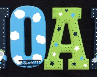 Cute Planes Hand Painted Letters