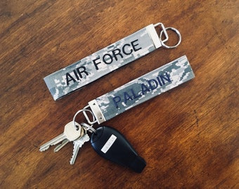 US Air Force Personalized Embroidered Keychain USAF