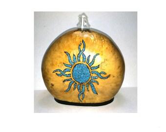 Turquoise Sun lamp