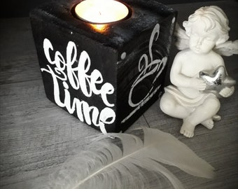 Coffee time candle holder