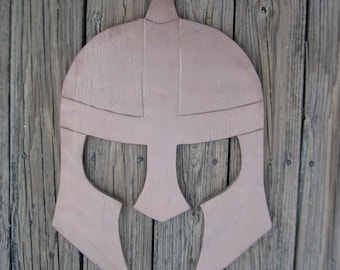 Viking Gladiator Spartan Battle Helmet Wall Art Sign