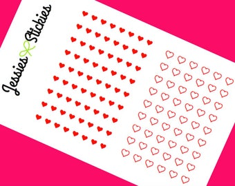 Small Heart Stickers