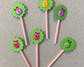 Bug cupcake toppers