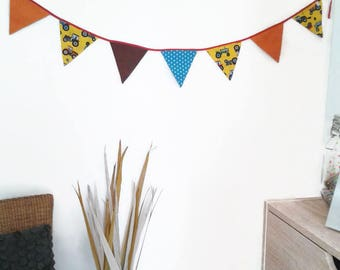 Tractor Birthday, Fabric Bunting, Fabric Garland, Fabric Flag Banner, Childrens Bunting, Tractor Party, Fabric Flags, Tractor Fabric, Decor,