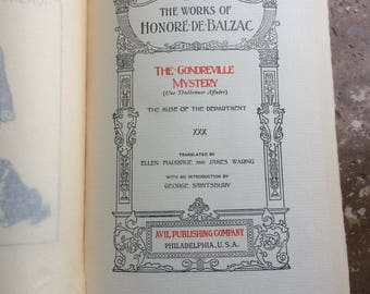 Honore De Balzac 'The Gondreville Mystery' 'The Muse Of The Department' 1901
