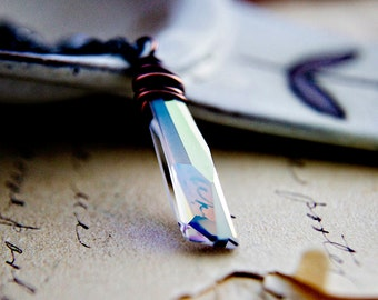Swarovski Crystal Necklace, Sterling Silver Crystal Necklace, Crystal Pendant Necklace