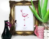 Flamingo - Pink - Print -...