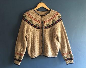 Shetland Wool Fair Isle Sweater UK14