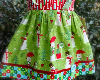 Christmas Knot Dress, Ready to Ship, size 2t only