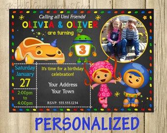 Team Umizoomi - Invitation, Umizoomi- Birthday Invite, PERSONALIZED, Digital File