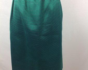 Givenchy Nouvelle Boutique Striped Pencil Skirt 42