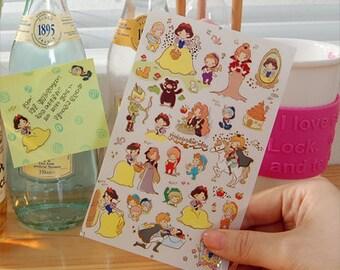 Princess Snow White Stickers-Fairy Tale stickers