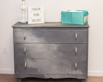 artistically hand painted dresser