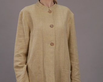 Linen Oversized/Loose Fit  Blazer For Women