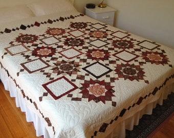 Queen hand made patchwork quilt