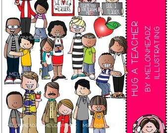 Hug a Teacher clip art - by Melonheadz