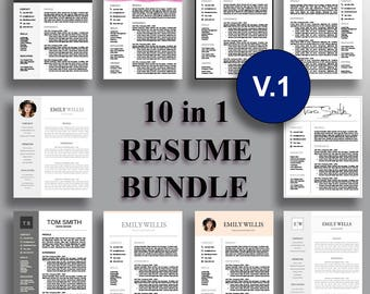 Resume Bundle  Professional Resume Template CV Template Cover Letter for Word Professional Resume Design  Instant Download for MS Word