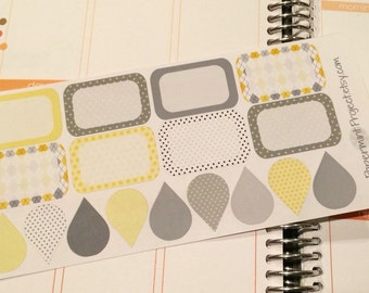 Grey & Yellow Planner Half Boxes