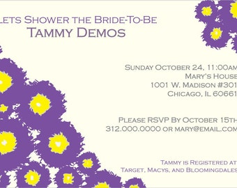Wedding Shower Invitation-Bushy Buds