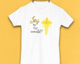 Christmas Shirt, Joy to the World, Religious, Toddler Clothes, Christmas clothes, Cute Kids Clothes, Winter, Holiday Clothes
