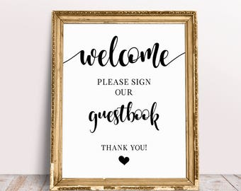 Welcome Please Sign Our Guestbook, Wedding Signage, Please Sign, Guestbook Sign, Wedding Welcome Sign, Sign Our Guestbook, Wedding Prints