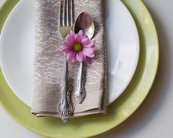 Set of 2 Linen Napkins and 2 coasters. Table Napkins. Table Serving. Dinner Napkins. Decorative Linen Napkins. Linen Placemats