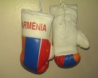 Armenia Flag Mini Boxing gloves Novelties, Souvenir, Cars, Trucks Bus, Jeeps, SUV's RV's etc, Rear-View Mirror