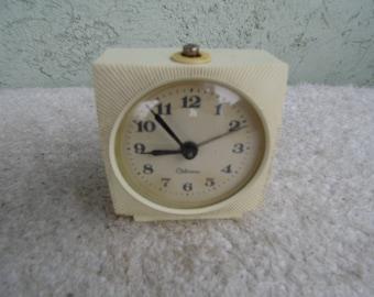 Antique Clock vintage. Alarm clock. Vintage Russian alarm clock  Working vintage clock, vintage mechanical alarm clock,USSR