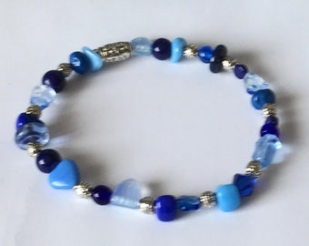 Blue Mix Beaded Bracelet