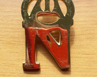Reproduction French Giberne 'N' Badge