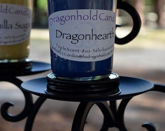 Dragonhearth Candle: Hand Poured, Triple Scented Soy-Paraffin Candle