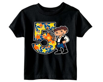 Han Solo Bday Toddler, 2T-7