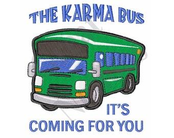The Karma Bus - Machine Embroidery Design