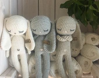 longear amigurumi Bunny,crochet bunny, crochet toy,baby bunny,easter bunny, baby bunny, child gift, newborn birth gift, newborn shower gift