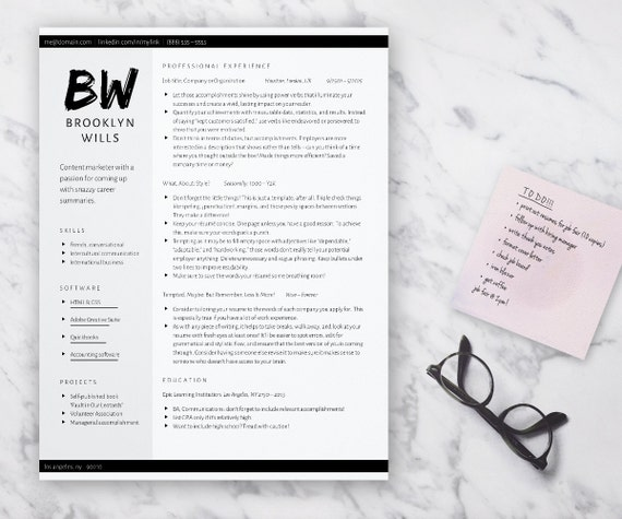 edgy resume template for word grayscale cv 2 column resume unique resume professional resume for word docx download creative resume - 2 Column Resume
