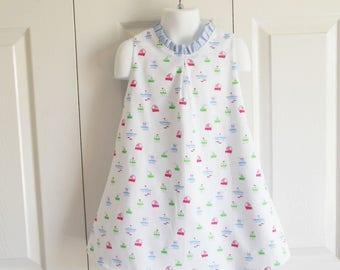 "Girls Retro Dress - Sleeveless ""Hattie"" dress - summer sundress - 12 mos to size 12 - Design your own - CHOOSE your fabric"