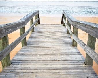 Beach Walkway to Ocean Fine Art Print - Travel, Scenic, Landscape, Nature, Home Decor, Zen