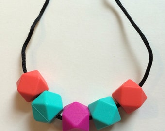 Chic Simple Hexagon Necklace-CTHP