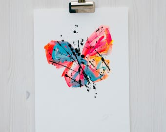 Butterfly Painting // Original Painting // Abstract Art // Abstract Painting // Home Decor // Wall Art // Limited Edition 16 of 50