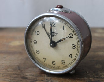Antique Rare EREVAN Clock, Soviet Era Alarm Clock, Retro Clock,  Mechanical Clock from USSR 1950s, Wind up Clock, Working Clock, Desk Clock