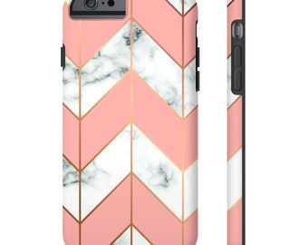 Iphone Case, Marble Iphone 6 Case, Marble Iphone 7 Case, Marble Iphone 8 Case, Marble Iphone X Case, Marble, Pink, White Marble