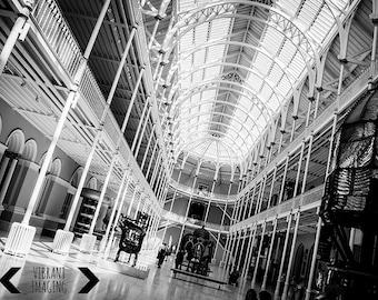 Edinburgh Print, Black And White Art, Museum of Edinburgh, Scotland Photography, Fine Art Photography, Black And White Wall Art, Wall Decor