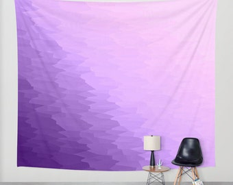 Wall Tapestry, Purple Wall Tapestry, Lavender Wall Tapestry, Purple Ombre Tapestry, Purple Tapestry, Wall Hanging,  Wall Tapestries