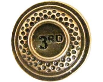 Clay Target-Bronze  ~ Lapel Pin/Brooch ~ A096C