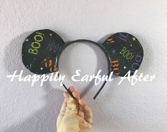Boo! Halloween Mouse Ears