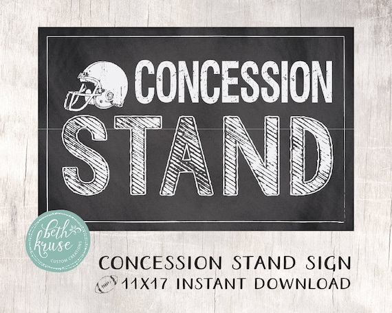 Finest Concession Stand 11x17 Printable Sign INSTANT DOWNLOAD BS45
