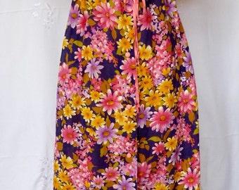 Vintage 1960s -1970s Vibrant Cotton Button -up dress